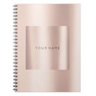 Geometry Blush Pink Rose Gold Powder Metallic Notebook