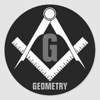 Geometry Classic Round Sticker