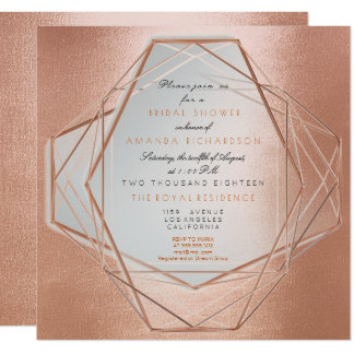 Geometry Cooper Bridal Shower Pearly Linear Card