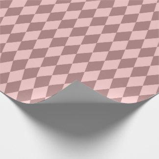Geometry Diamond Cut  Blush Pink Rose Mauve Wrapping Paper