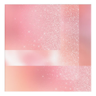 Geometry Harmony Spark Blush Pink Rose Acrylic Print