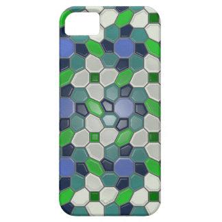 Geometry in blue (sunburst) iPhone 5 cover