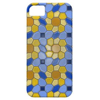 Geometry in blue/yellow (sunburst) iPhone 5 cases