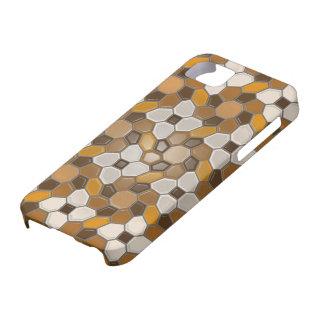 Geometry in brown (sunburst) iPhone 5 cases