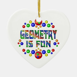Geometry is Fun Ceramic Ornament