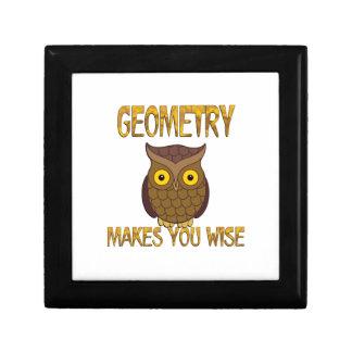 Geometry Makes You Wise Trinket Box