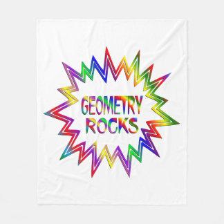 Geometry Rocks Fleece Blanket