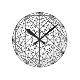 Geometry Round Clock
