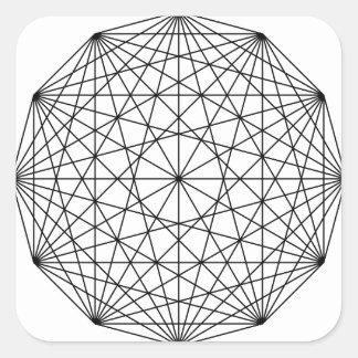 Geometry Square Sticker