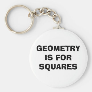 Geometry Squares Basic Round Button Keychain