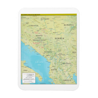 Geopolitical Map of the Central Balkans Rectangular Photo Magnet