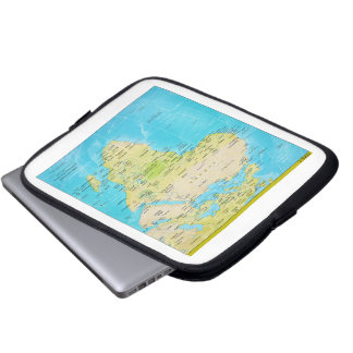 Geopolitical Regional Map of Africa Laptop Computer Sleeves