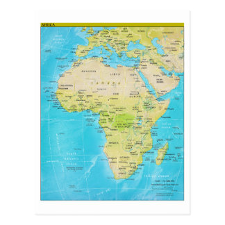 Geopolitical Regional Map of Africa Postcard