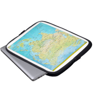 Geopolitical Regional Map of Asia Laptop Computer Sleeves