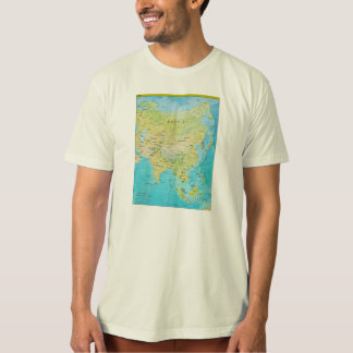 Geopolitical Regional Map of Asia T-Shirt