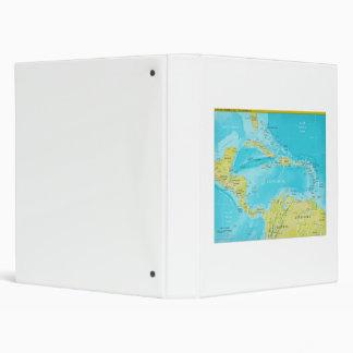 Geopolitical Regional Map of Central America Vinyl Binder