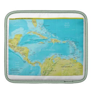 Geopolitical Regional Map of Central America iPad Sleeve