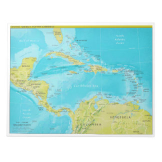 Geopolitical Regional Map of Central America Notepads