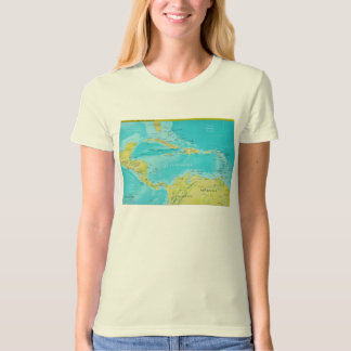 Geopolitical Regional Map of Central America T-Shirt