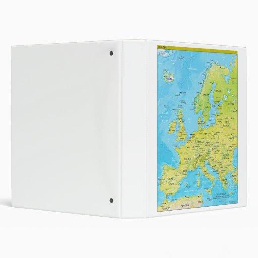 Geopolitical Regional Map of Europe Vinyl Binder