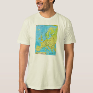 Geopolitical Regional Map of Europe T Shirts