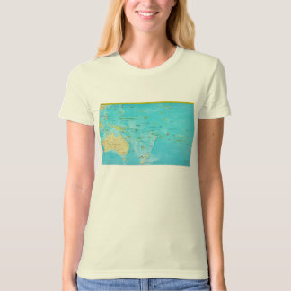 Geopolitical Regional Map of Oceania T-Shirt