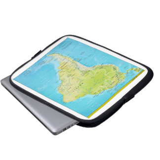 Geopolitical Regional Map of South America Laptop Computer Sleeves