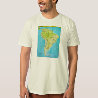 Geopolitical Regional Map of South America T-Shirt