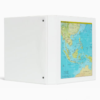 Geopolitical Regional Map of Southeast Asia 3 Ring Binders