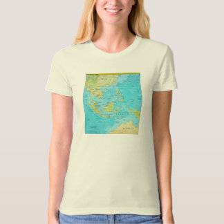 Geopolitical Regional Map of Southeast Asia Tshirts