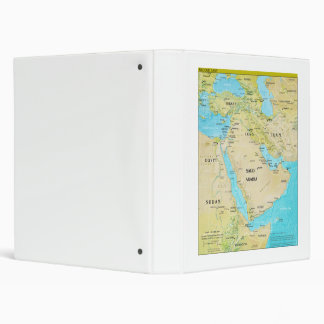 Geopolitical Regional Map of the Middle East 3 Ring Binder