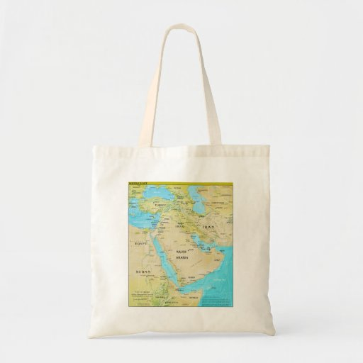 Geopolitical Regional Map of the Middle East Bags