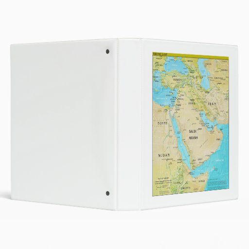 Geopolitical Regional Map of the Middle East Binders