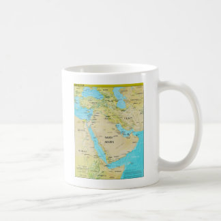 Geopolitical Regional Map of the Middle East Classic White Coffee Mug