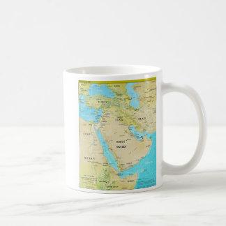 Geopolitical Regional Map of the Middle East Coffee Mug