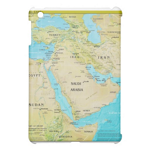 Geopolitical Regional Map of the Middle East iPad Mini Case