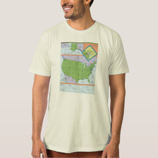 Geopolitical Regional Map of the United States T-Shirt