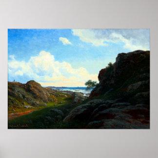 Georg Emil Libert Summer Day with Rocks near Sea Poster