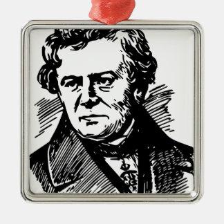 Georg Ohm Silver-Colored Square Ornament