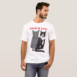 George and Lucas white T-shirt