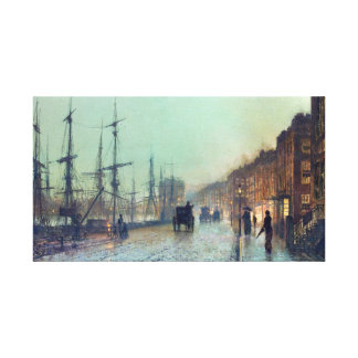 George Atkinson Grimshaw Shipping on the Clyde Canvas Print