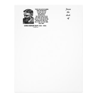 George B. Shaw I Don't Believe In Circumstances Custom Letterhead