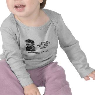 George B. Shaw Spiritual Intensity Not Eat Corpses Tshirt