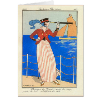 George Barbier  Art Deco   Blank Note Card