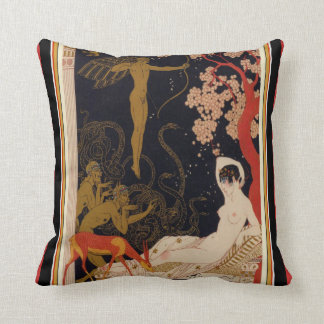 George Barbier Art Deco Throw Pillow