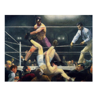 George Bellows Dempsey and Firpo Art of Boxing Postcard