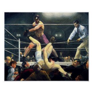 George Bellows Dempsey and Firpo Art of Boxing Poster