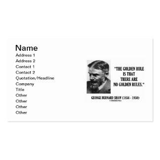 George Bernard Shaw Golden Rule No Golden Rules Pack Of Standard Business Cards