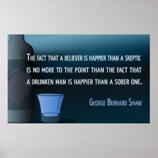 George Bernard Shaw Sobriety Poster