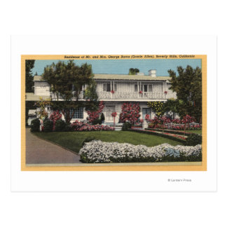 George Burns and Gracie Allen's Home Postcard